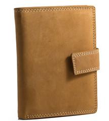 Pánská kožená peněženka HUN306L-NAT-bez logo