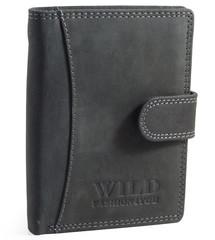 WILD FASHION4U pánská kožená peněženka WF5500L-BL