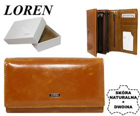 Loren Dámská kožená peněženka hnědá N22-P PC CAMEL