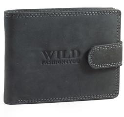 WILD FASHION4U pánská kožená peněženka WF305L-BL