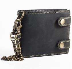 Pánská kožená peněženka BI-FOLD502-ČERNÁ