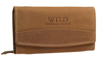 Dámská kožená peněženka Wild THINGS ONLY - CAMEL