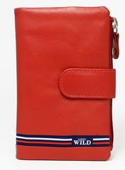 Dámská červená kožená peněženka WILD ALWAYS N501-GV-RED