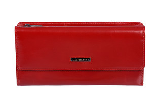Lorenti Dámská kožená peněženka velká italská červená 74507 RED 2
