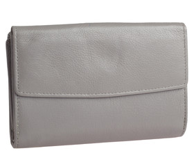 Dámská kožená peněženka HSE 24 Šeda
