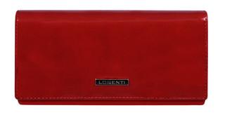 Lorenti Dámská velká červená kožená peněženka italská 64003-RED