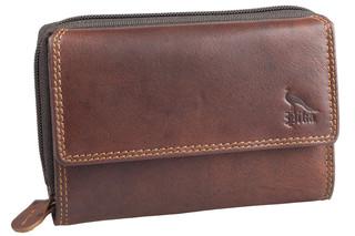 Dámská luxusní kožená peněženka hnědá na šířku 5786