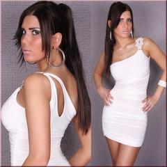 Dámské bílé šaty na párty
