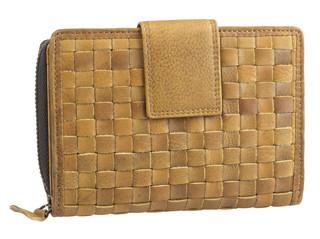 Dámská luxusní kožená peněženka hnědá přírodní 52786