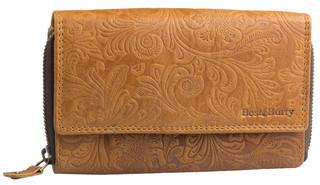 Dámská luxusní kožená peněženka hnědá přírodní Best Burry
