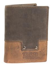 Pánská kožená peněženka na výšku Wild kombi 650084