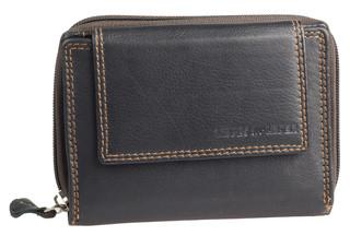 Dámská luxusní kožená peněženka černá na šířku Best Bull