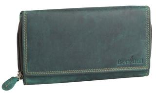 Dámská luxusní kožená peněženka zelená na šírku Best Bull
