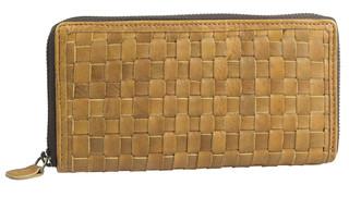 Dámská luxusní kožená peněženka na zip hnědá přírodní 29786