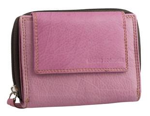 Dámská luxusní kožená peněženka růžová na šířku Best Bull