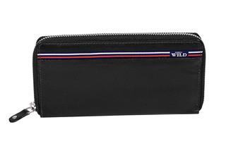 Dámská černá kožená peněženka WILD ALWAYS N512-GV BLACK