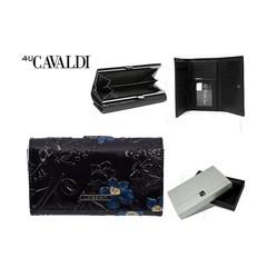 Dámská velká černá peněženka Cavaldi PN23-FL