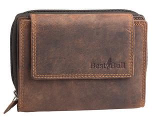 Dámská luxusní kožená peněženka hnědá na šířku Best Bull