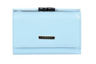 Lorenti Dámská elegantní italská kožená peněženka modrá 55282-NIC L.BLUE