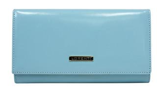 Lorenti Dámská italská kožená peněženka velká modrá 76114-L.BLUE