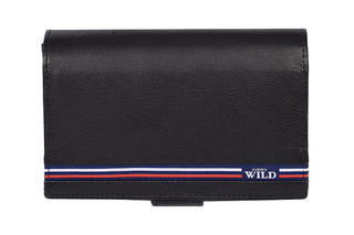 Dámská černá kožená peněženka WILD ALWAYS N568-GV BLACK
