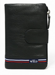 Černá kožená peněženka WILD ALWAYS N501-GV-BLACK