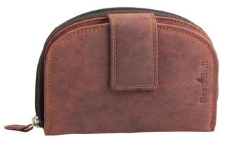 Dámská luxusní kožená peněženka červená na výšku Best Burry