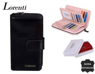 Lorenti Dámská velká kožená peněženka černá 76116-BLACK