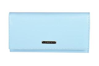 Lorenti Dámská kožená italská peněženka modrá velká 64003-L.BLUE