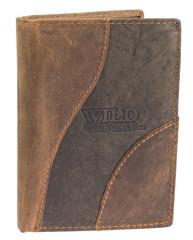 Pánská kožená peněženka na výšku Wild kombi 600081