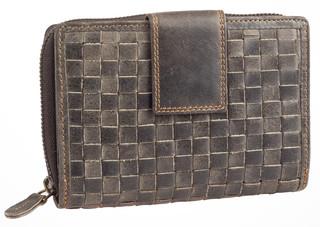 Dámská luxusní kožená peněženka šedá 52786