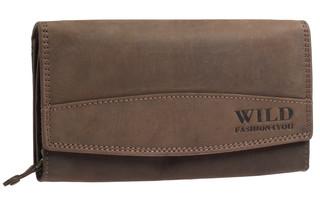 Dámská kožená peněženka WILD FASHION4U - HNĚDA