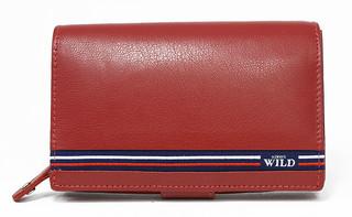 Dámská červená kožená peněženka WILD ALWAYS N568-GV RED