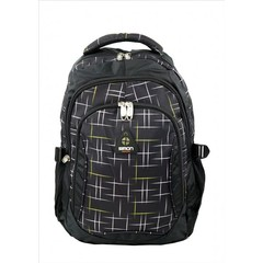 Školní batoh černý s trojúhelníky SIMON