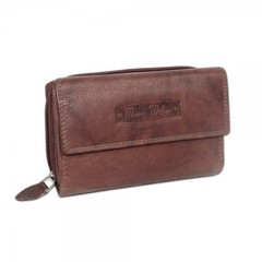 Dámská kožená peněženka Money Maker 12136B HNĚDÁ