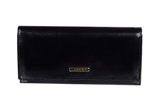 Lorenti Dámská kožená velká peněženka černá 72401-NIC BLACK