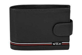 Pánská černá kožená peněženka ALWAYS WILD N992L-GV-BLACK