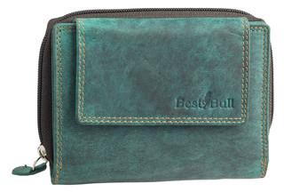 Dámská luxusní kožená peněženka zelená na šířku Best Bull