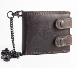 Pánská kožená peněženka BI-FOLD314-HNĚDÁ