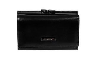 Dámská kožená peněženka elegantní malá LORENTI černá 55282-NIC BLACK