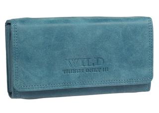 Dámská kožená peněženka Wild THINGS ONLY - MODRA