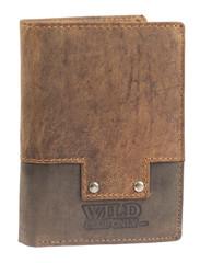 Pánská kožená peněženka na výšku Wild kombi 600084