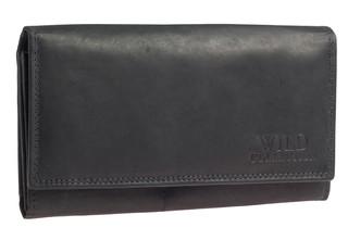 Dámská kožená peněženka WILD COLLECTION - ČERNA