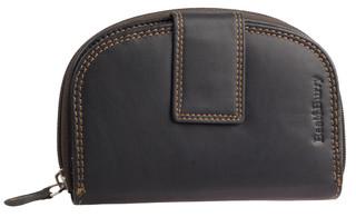 Dámská luxusní kožená peněženka černá na výšku Best Burry