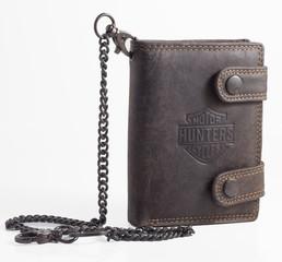 Pánská kožená peněženka BI-FOLD315-HNĚDÁ