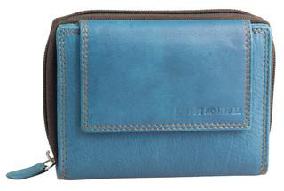 Dámská luxusní kožená peněženka modrá na šířku Best Bull
