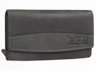 Dámská kožená peněženka WILD FASHION4U - ČERNA