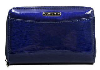 Lorenti Dámská kožená italská modrá peněženka 01-12-SH BLUE