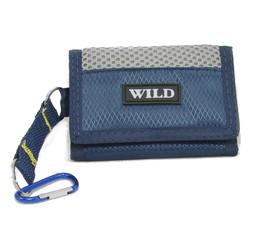 Sportovní malá látková peněženka modrá Wild
