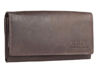 Dámská kožená peněženka WILD COLLECTION - HNĚDÁ